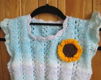 Free shipping, girls vest, children vest,girls jumper, childrens jumper,blue vest, blue jumper,knitting vest, knitting blue vest,blue vest