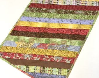 Table Topper Runner Strip Quilted woodland Country Modern Home Decor  Handmade