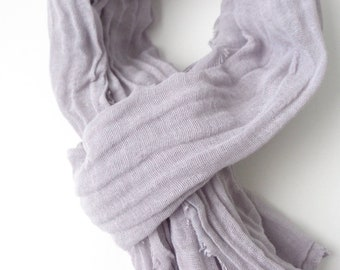gray scarf gray cotton scarf light weight scarf mens gray scarf  grey scarf  cotton scarf soft gray scarf