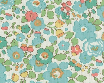 Liberty Blue Green Liberty Betsy color pattern print fabric