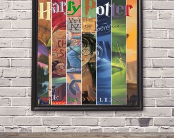 """24"""" x 36"""" Poster of Harry Potter Book Collage"""