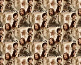 Lord of The Rings Fabric / LOTR Fabric / The Hobbit Fabric / Digitally Printed / Camelot 23220101J 1 Fabric By The Yard, Fat Quarters