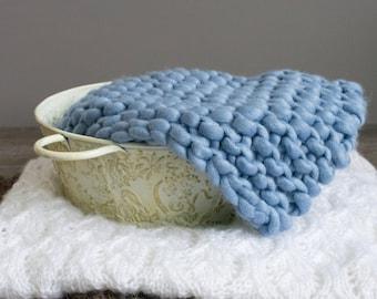 Blue Photo Prop Blanket, Layering Blanket, Bump Blanket, Photo Prop Blanket, Newborn Photo Prop Mat, Basket Stuffing, Newborn Photo Prop