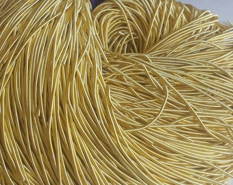 Gold - French Coil Wire Bullion thread (100 inches) for jewelry or embroidery