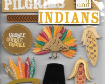 Me & My Big Ideas Brand -- Dimensional Embellishments  -- Thanksgiving  -- 9 pieces  --  NEW  (#1404)