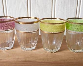 Vintage frosted shot glasses
