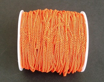 Orange Electroplated  Twist  Curbe Chain Colored Chain-15 ft.
