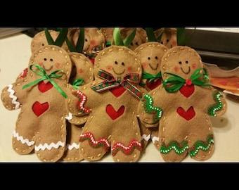 Decorative gingerbread man ornament