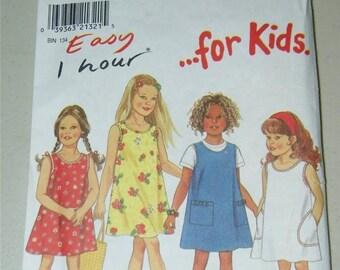 New Look 6739 Girls Jumper Sleeveless Dress Pattern Size 3 - 8 12668