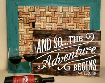 And So The Adventure Begins Hand Painted Wood Sign