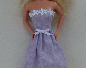 "Purple 11.5"" Fashion doll handmade dress"