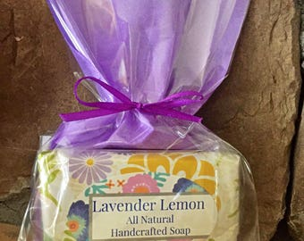 Lavender & Lemon Soap, Lemon and lavender soap, lavender soap, vegan soap, litsea cubeba lavender soap, lavender lemon soap, vegan soap
