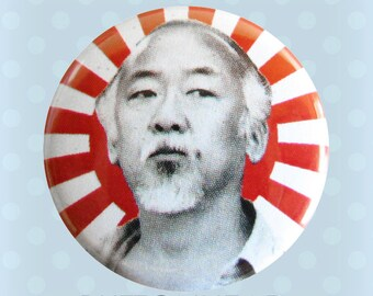 Mr. Miyagi - The Karate Kid 1980s - 1 Inch Pinback Button