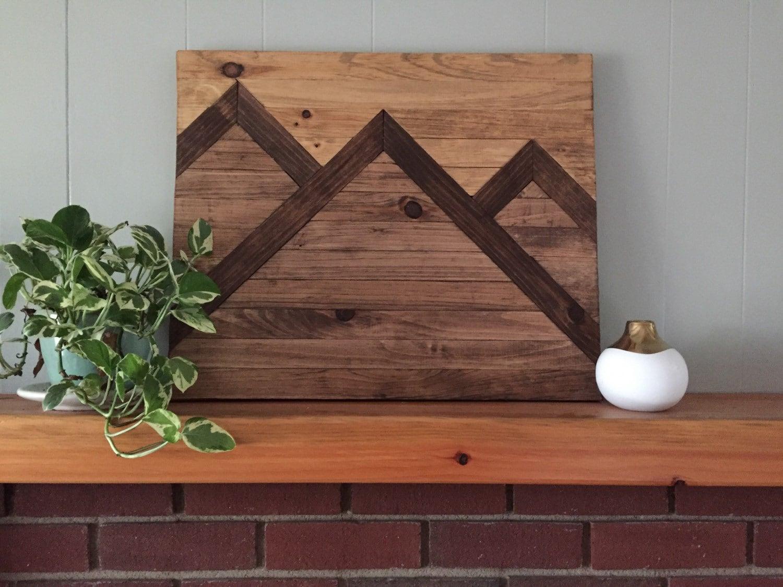 zoom Mountain Wood Wall Art