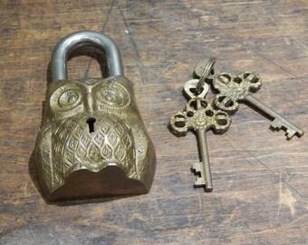 Owl Padlock