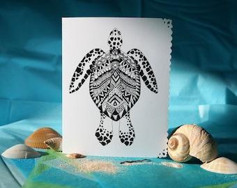 Greeting card handmade - turtle