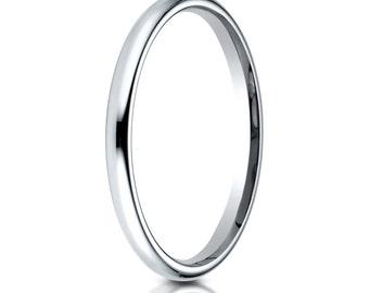 Platinum Comfort Fit Wedding Ring 2mm, Platinum Wedding Band, Platinum Ring, 2mm Platinum