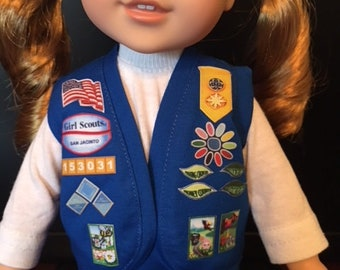 14.5 Inch Doll Clothes - Daisy Girl Scout Vest