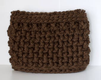 Chestnut neck warmer // scarf // neck cozy