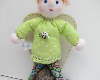 Guardian Angel, Angel doll Rosalie, Fiber Angel doll, angel, Waldorf inspired, Christmas, Baptism, baby shower, Stocking Stuffer
