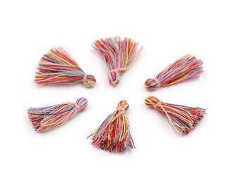 Multicolored cotton tassel