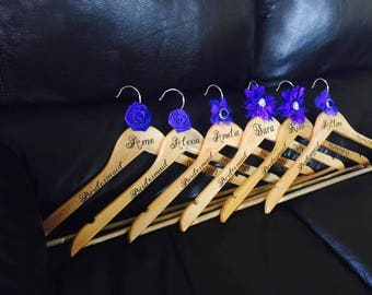 Personalized wooden hangers for any special event