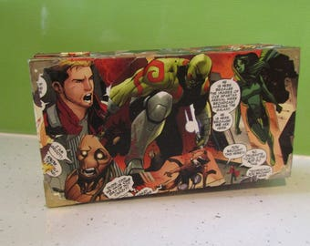 Guardians of the Galaxy Decoupage Box || Tabletop Gaming RPG Wooden Dice Chest || Dungeons & Dragons DND || Pathfinder || Geek Gift ||