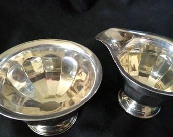 Milk Jug and sugar bowl Sheffield Silver plate