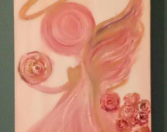 Golden Halo Divine Mother Angel