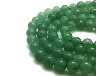 8mm Natural Green Aventurine Beads Round 8mm Green Aventurine 8mm Aventurine 8mm Green Beads Green Mala Green Beads 8mm 8 mm Beads