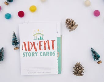 Advent Story Card, Advent Calendar, Christmas Countdown, Instant Download