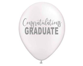 Congratulations Graduate Balloon, Graduation Balloon, Class of 2018, Graduation Decor, 2018 Balloon, Graduation, Graduation Party Favors