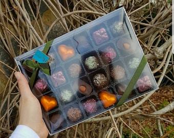Gift Box of 24 Handmade Vegan Chocolates