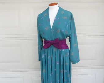 SALE Vintage 70s Wrap Dress . Jerry Silverman by Saulino
