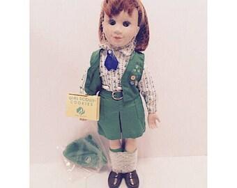 """SALE - 1995 Avon Tender Memories Porcelain Doll """"Girl Scout"""""""