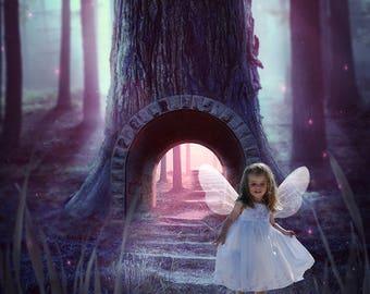 Fantasy Pathway, Digital Background, Digital Backdrop, Newborn Backdrop, Instant Download, Photography Prop, Photo Prop, Photoshop, Art