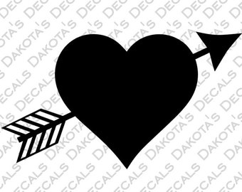 Heart with Arrow SVG for Download
