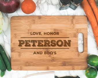 Fun Gift Custom Bamboo Cutting Board | Birthday Gift Cook Gift | Personalized Kitchen | Cook Gift | BBQ Gifts | Couple Christmas gift