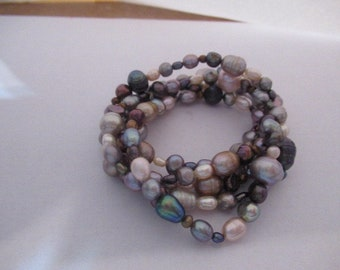 Dyed Fresh Water Pearl Bracelets