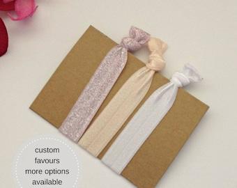 fold over elastic hair tie set, FOE hair elastic, girls birthday party favours, hair tie favour, girls ponytail holder hair ties
