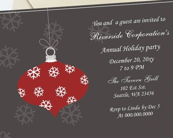 Formal holiday party invitation etsy printable red christmas invitation templates formal holiday invitation template holiday invitation templates word invitation template stopboris Gallery