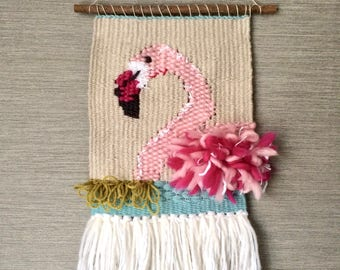 Flamingo Woven Wall Hanging, Tapestry