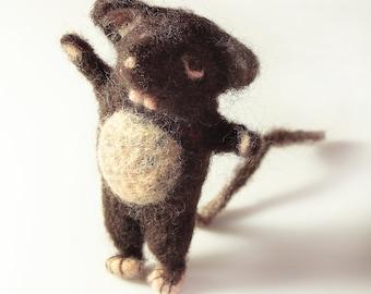Needle felted rat ..ish crazy animal ;)