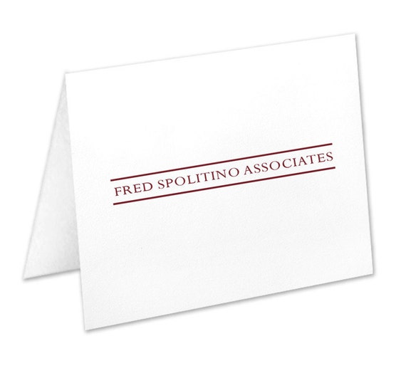 Executive College Stationery Note Cards: Personalized Business Stationery Corporate Note Cards
