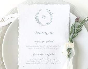 Romantic Wedding Menu Cards