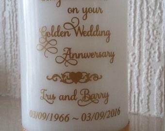 LED golden wedding candle