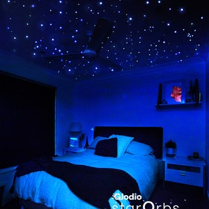 Star Ceiling Extra Bright Glow in Dark Realistic Star Stickers, Celestial Skies, Long-lasting, Tiny but Luminous Night Sky Ceiling Stars