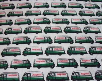 "Krispy Kreme Donuts Fabric Rare & HTF 15"" x 19"" Last Piece"