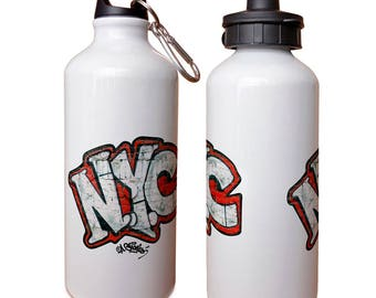 Andre Charles NYC Graffiti Water Bottle