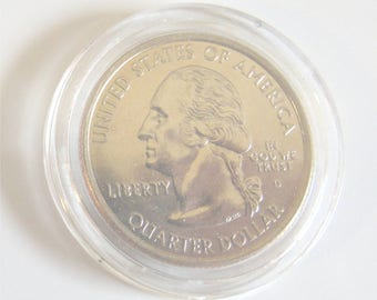 Coin Bezel ewelry Finding Platinum PLATED U.S. Quarters for Jewelry Creation, Bezel Pendant, Charm  Brilliant Sheen